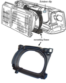 Volvo 760, 940, 960, Headlight capsule mounting bracket Right side/Passenger side HBR 711