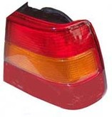 Volvo Sedan, 940, 960, Tail light assembly with yellow turn signal for Left side/Driver side 3538338