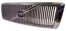 Volvo 960, S90, V90, Grille assembly Chrome with Chrome molding and no crossbar no emblem 9126997