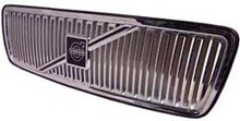 Volvo S70, V70, C70, Grille assembly Chrome with Chrome molding and no crossbar or emblem fits 9127580