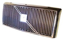 Volvo 740 1990 ONLY, Grille assembly Chrome with Chrome molding and no crossbar or emblem 1369616