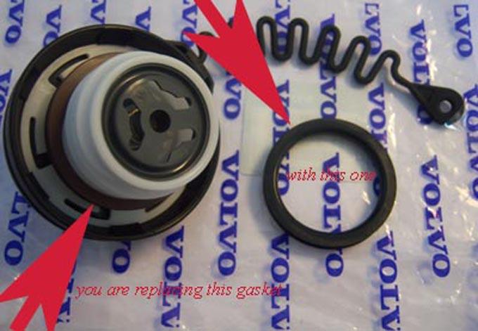 9470016 seal volvo gas caps gasket solution repair kit