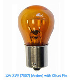 Volvo Single Filament Amber Bulb with offset 989842 12V 21W