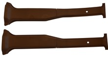 VOLVO 240 interior b pillar seat belt panel brown color new set of 2