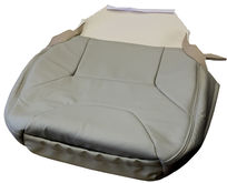 S60 V70 ('01-'04) Front (Lower) Seat Cover. Leather Upholstery. Light Beige Oak Arena A981  9478992