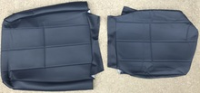 Volvo 240 Vinyl Seat Cover. Blue. 3 Single-Stitched Lines. Color code 5123